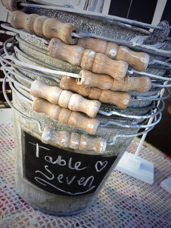 chalk bucket table number stack