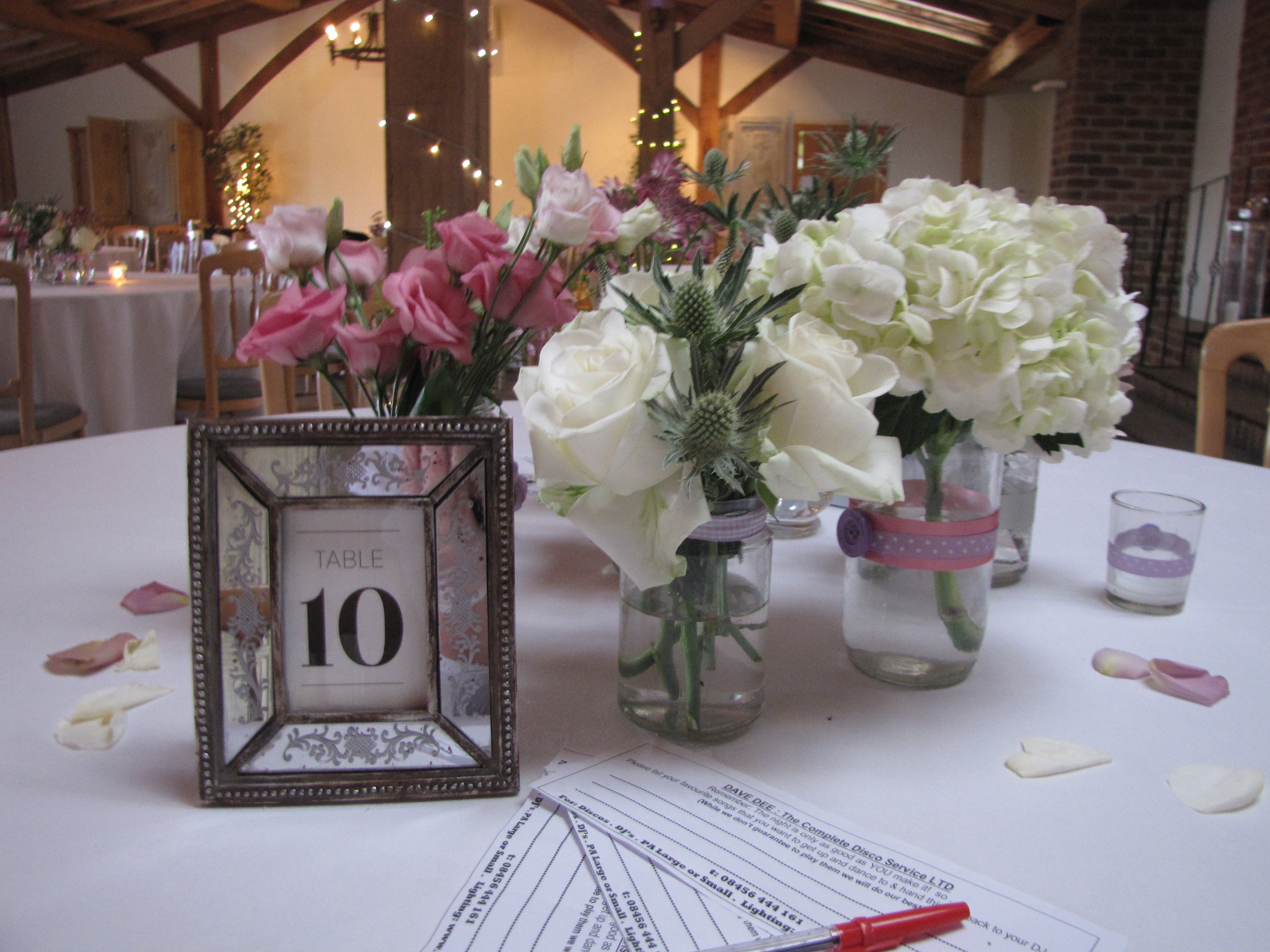 Antique glass frame-table numbers - Something Borrowed Hire