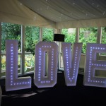 Giant LOVE lights